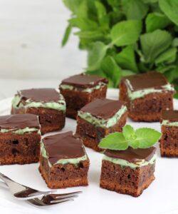 Ricetta Brownies Cioccolato E Menta