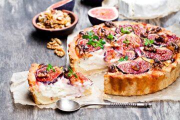 Ricetta Crostata Salata Con Formaggio E Fichi