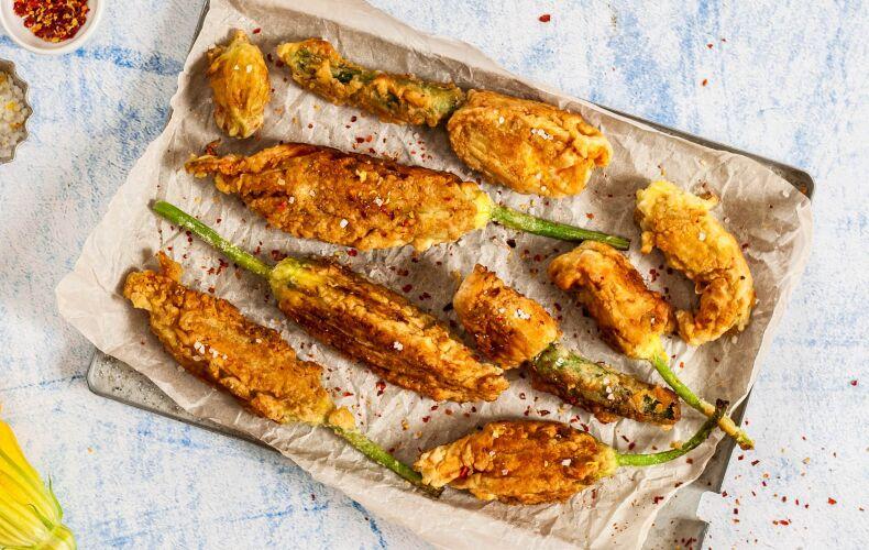 Ricetta Fiori Di Zucchina Ripieni Fritti