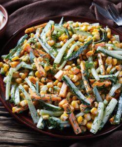 Ricetta Insalata Di Carote Zucchine Mais Salsa Yogurt