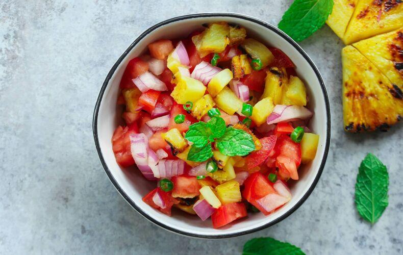 Ricetta Insalata Di Pomodori E Ananas Grigliato