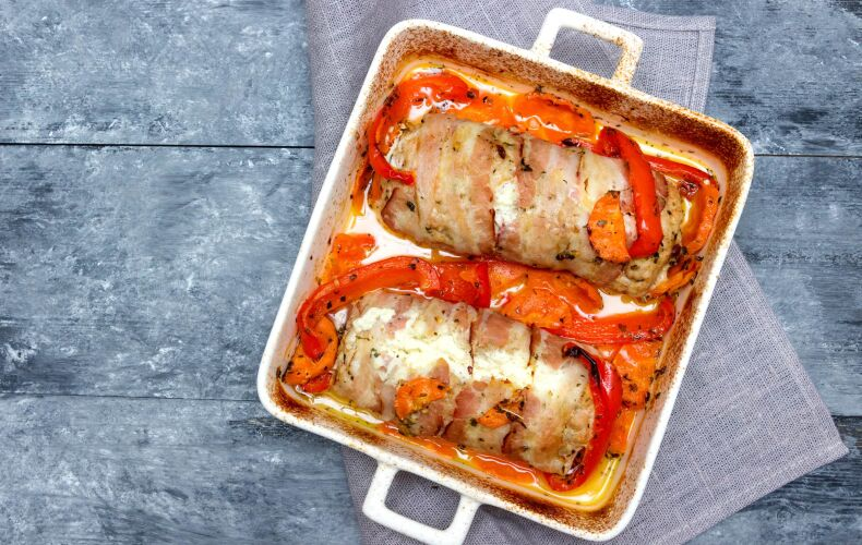 Ricetta Petto Di Pollo Al Forno Con Pancetta E Verdure