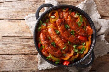 Ricetta Salsiccia In Padella Con Peperoni