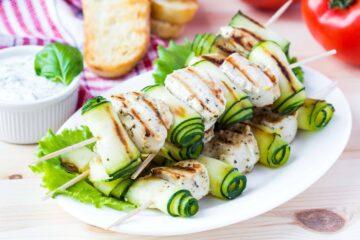 Ricetta Spiedini Di Pollo E Zucchine