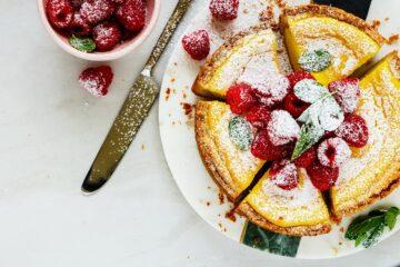 Ricetta Cheesecake Cotta Con Lamponi