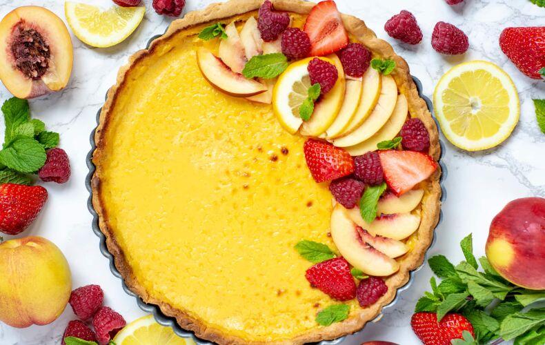 Ricetta Crostata Alla Crema Con La Frutta