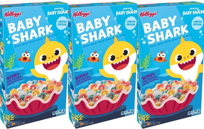 Kelloggs Lancia I Cereali Di Baby Shark