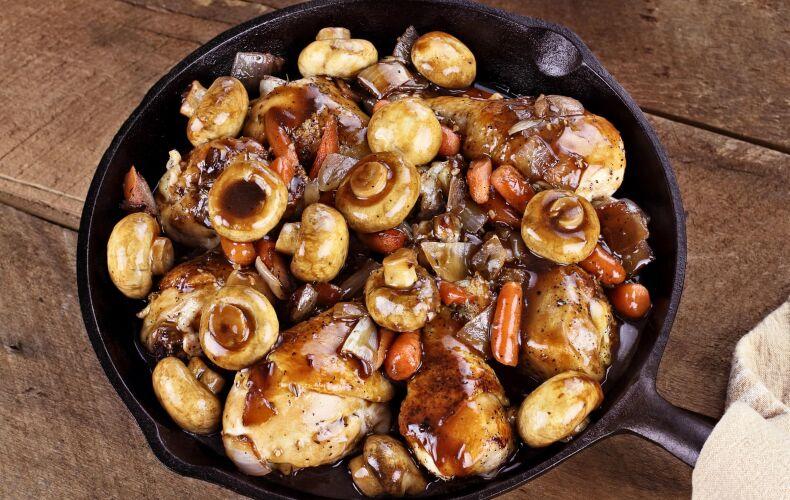 Ricetta Pollo Ai Funghi In Padella