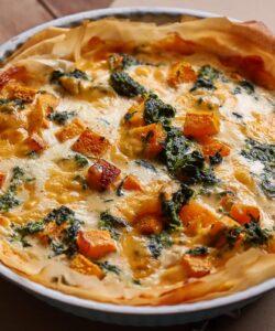 Ricetta Crostata Salata Di Pasta Fillo Con Zucca Spinaci E Formaggi