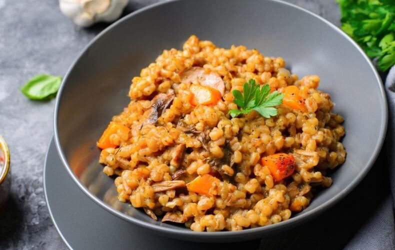 Ricetta Orzo Risottato Mantecato Con Zucca E Funghi