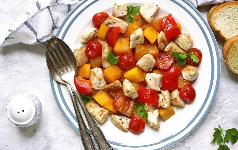 Ricetta Bocconcini Di Pollo Con Pomodorini E Zucca