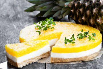 Ricetta Cheesecake Senza Cottura Ananas