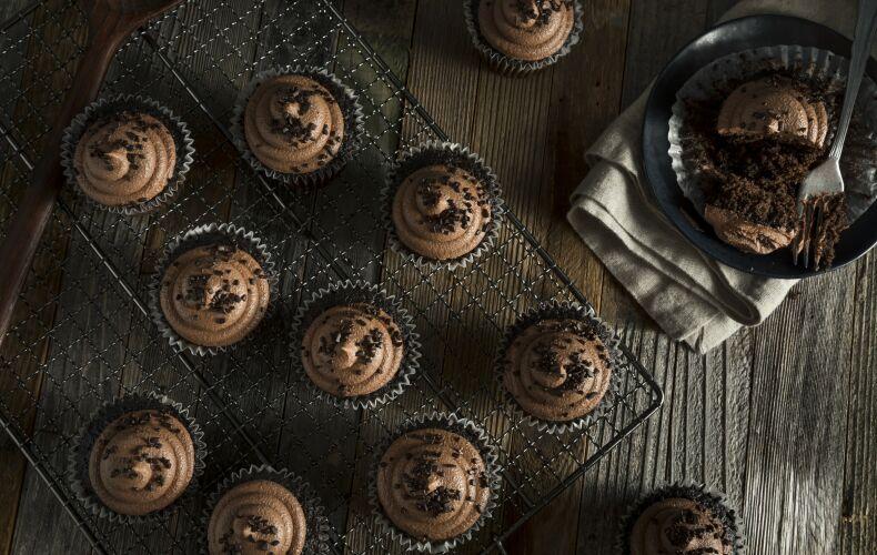 Ricetta Cupcake Al Caffe E Cioccolato Fondente