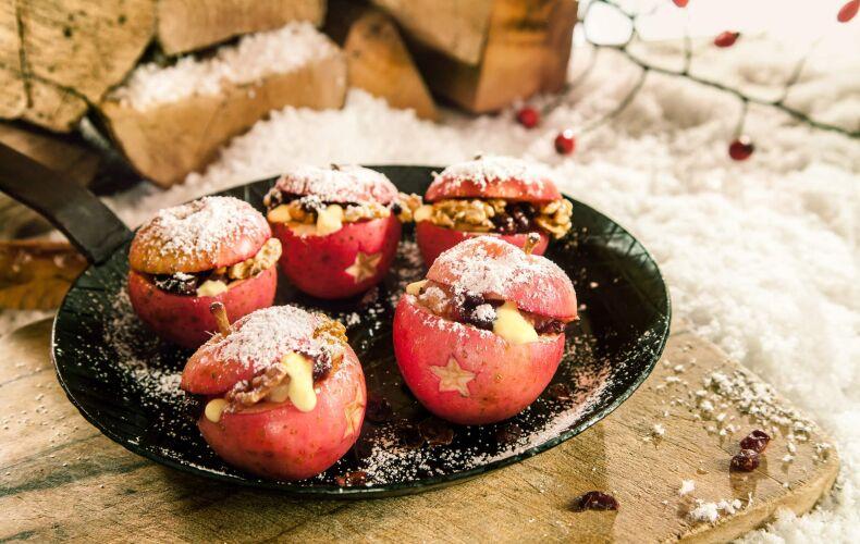 Ricetta Mele Al Forno Ripiene Con Frutta Secca E Crema