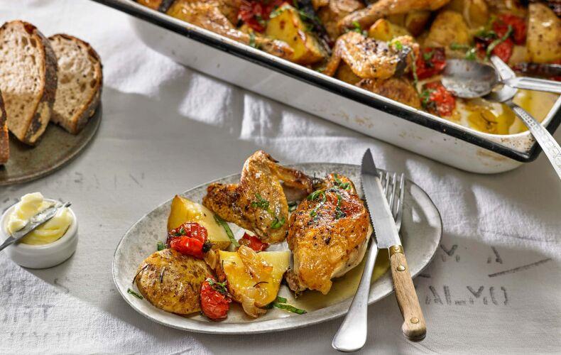 Ricetta Pollo Arrosto Con Patate Pomodori