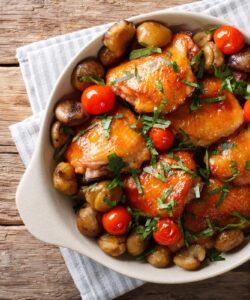 Ricetta Pollo E Castagne Al Forno