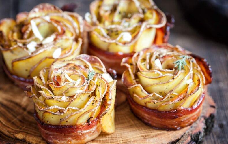 Ricetta Rose Di Patate E Bacon