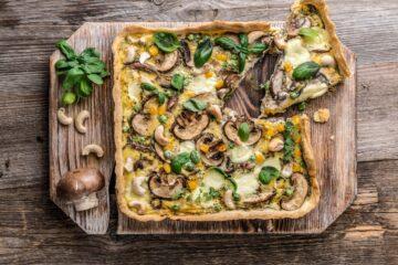 Ricetta Torta Salata Vegana Ai Funghi
