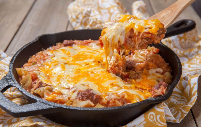 Ricetta Verze In Padella Con Carne Macinata E Funghi