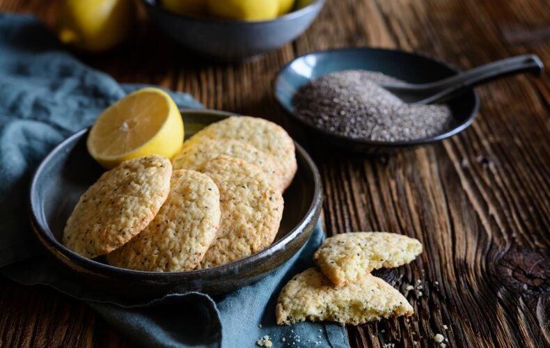 Biscotti Al Limone E Semi Di Chia