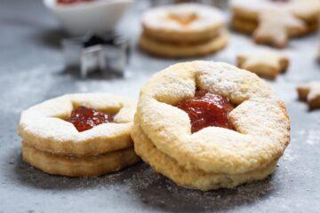 Biscotti Tirolesi Natalizi Confettura Fragole