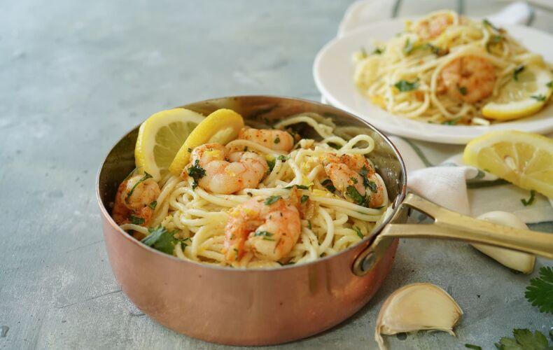 Ricetta Spaghetti Limone E Gamberi