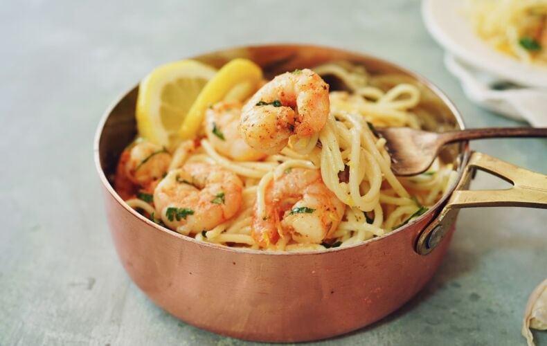 Ricetta Spaghetti Limone Gamberi