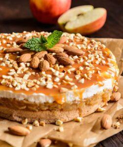 Torta Mele Panna Caramello