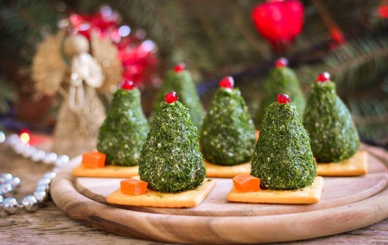 Ricetta Alberelli Di Natale Di Formaggio Ed Erbette