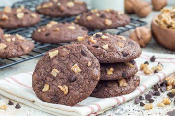 Ricetta Cookies Cioccolato E Noci