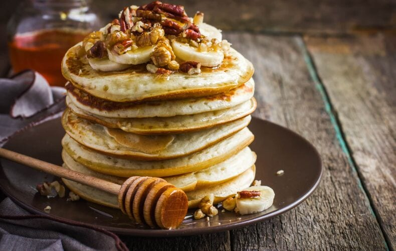 Ricetta Pancakes Vegani Alle Mele
