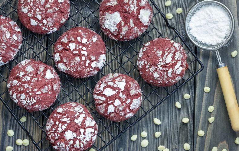 Ricetta Red Velvet Crinkle Cookies