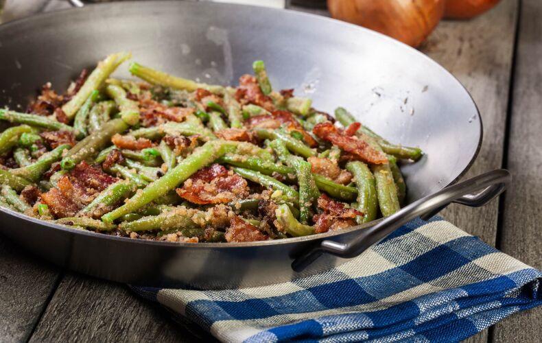 Ricetta Fagiolini E Pancetta In Padella