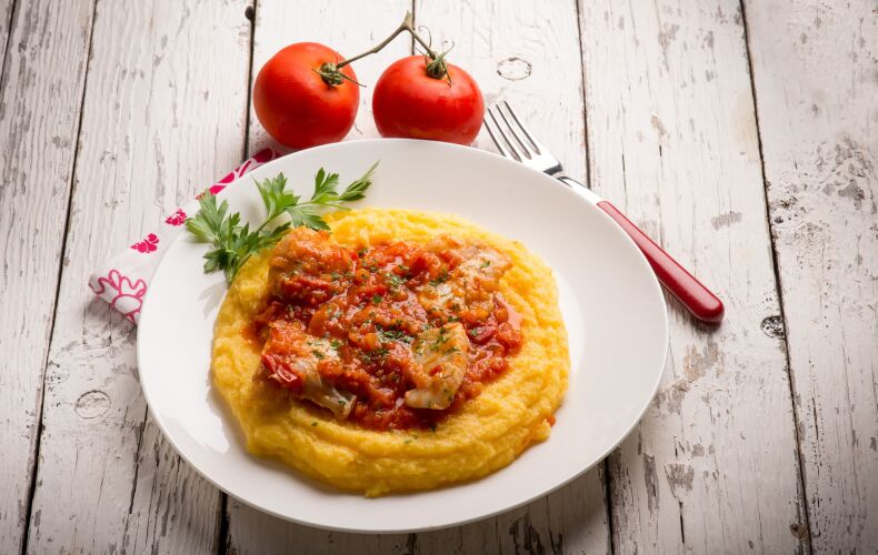 Ricetta Merluzzo In Umido Con La Polenta