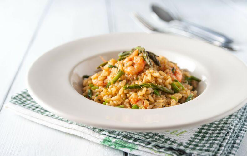 Ricetta Risotto Gamberetti E Asparagi