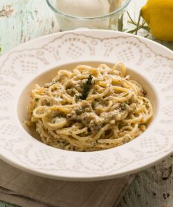 Ricetta Spaghetti Burrata Mandorle