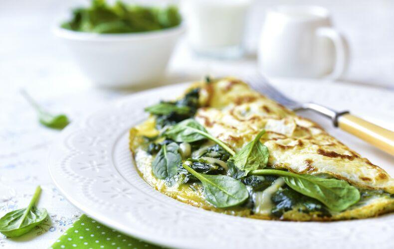 Ricetta Omelette Al Formaggio E Spinaci