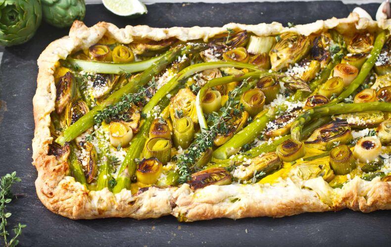 Ricetta Torta Salata Asparagi Carciofi