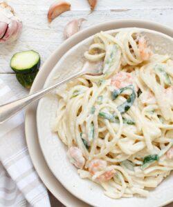 Ricetta Pasta Cremosa Zucchine E Gamberi