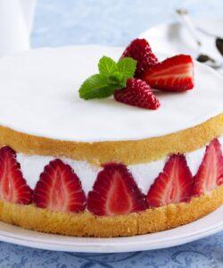 Ricetta Torta Panna E Fragole