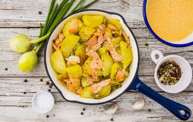 Ricetta Frittata Patate E Salmone