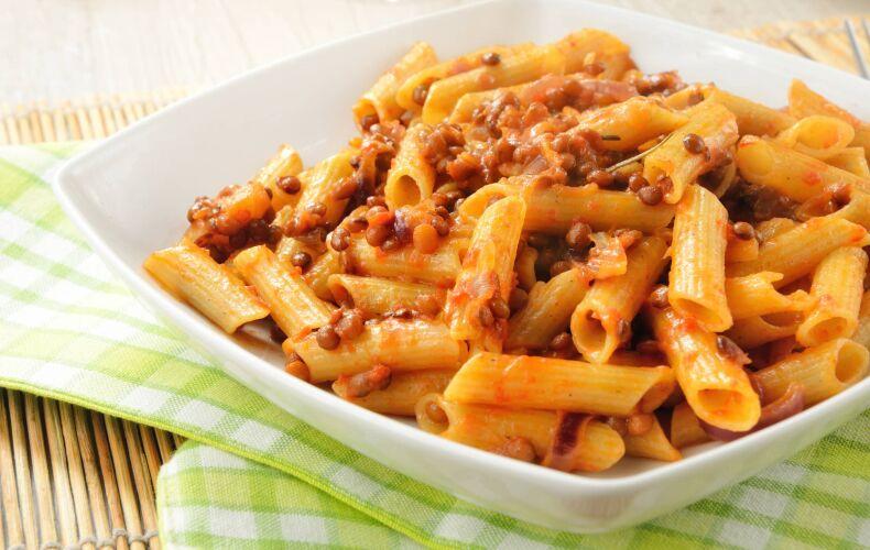 Ricetta Pasta Con Lenticchie E Salsa Di Zucca