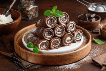 Ricetta Rotolini Di Crepes Al Cioccolato
