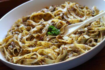 Ricetta Tagliatelle Al Pesto Di Funghi