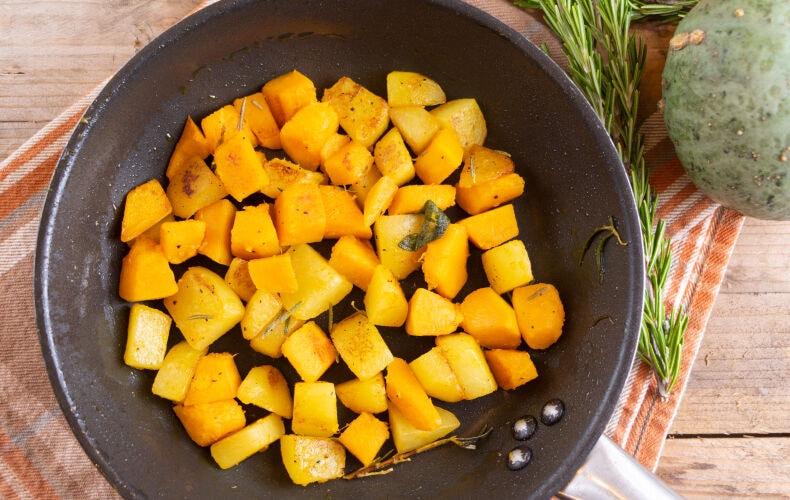 Ricetta Zucca E Patate In Padella