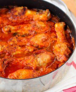 Ricetta Pollo Con Pomodoro E Funghi