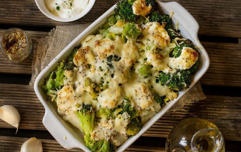 Ricetta Broccoli E Cavolfiore Gratinati