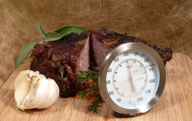 Temperatura Carne Termometro Nel Roast Beef