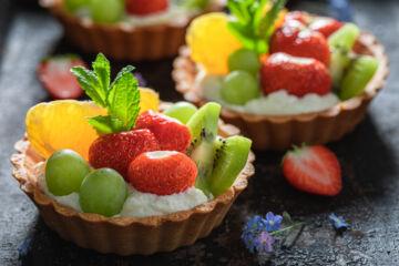 Ricetta Pasticcini Vegani Crema E Frutta
