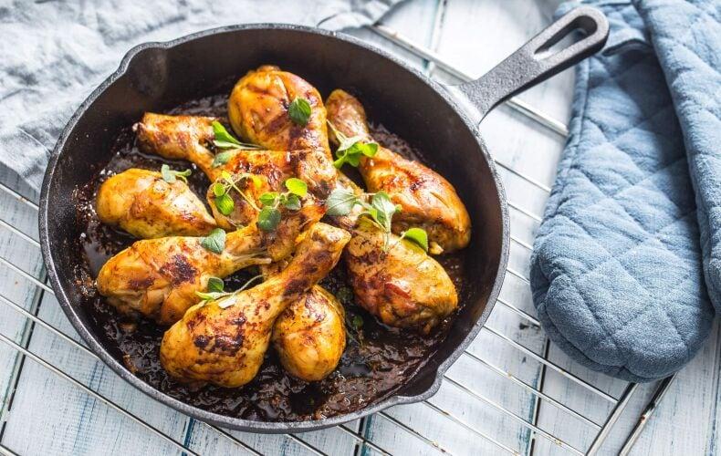 Ricetta Cosce Di Pollo In Padella